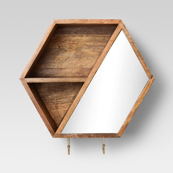 """Get the cubbie <a href=""""https://www.target.com/p/hexagon-wall-cubbie-with-hooks-12-x-10-4-project-62-153/-/A-52358310#lnk=new"""
