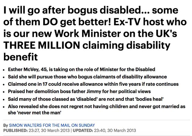 An article on McVey from 2013 saying she would go after 'bogus