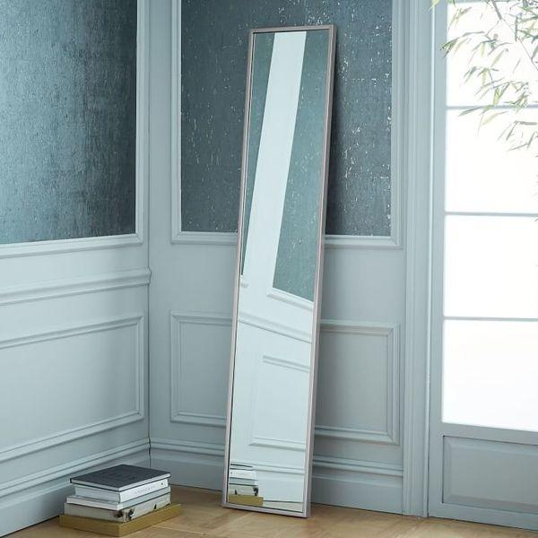 "Get the floor mirror <a href=""https://www.westelm.com/products/metal-framed-narrow-wall-mirror-brushed-nickel-w2560/?pkey=cfl"