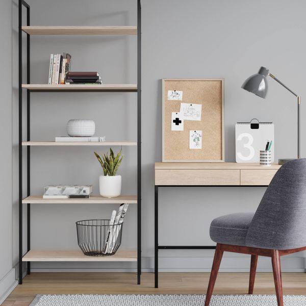 "Get the bookshelf <a href=""https://www.target.com/p/72-loring-5-shelf-ladder-bookcase-project-62-153/-/A-52581576#lnk=newtab&"