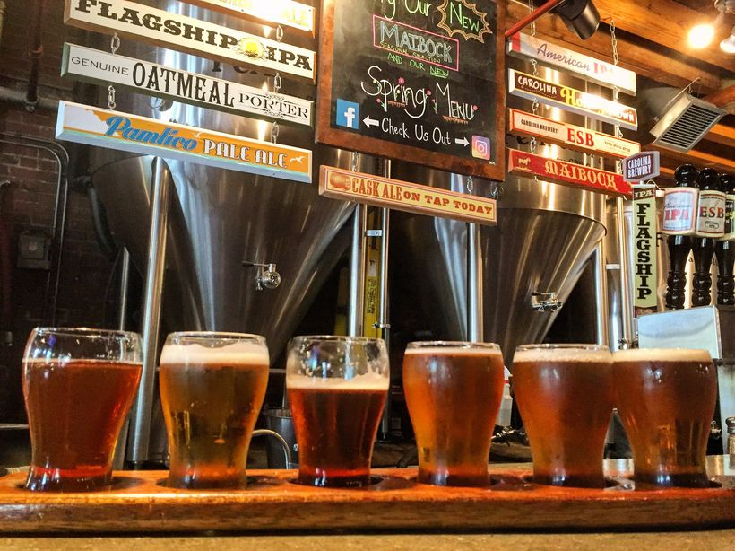 North Carolina's booming craft beer scene is evident in Chapel Hill, which has eight craft breweries.