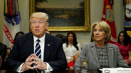 Advocates Demand Devos Protect Students >> Backing Devos Repeal Of Obama Rules For Profit Colleges Vilify