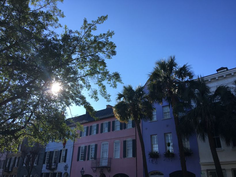 Rainbow Row in Charleston, SC