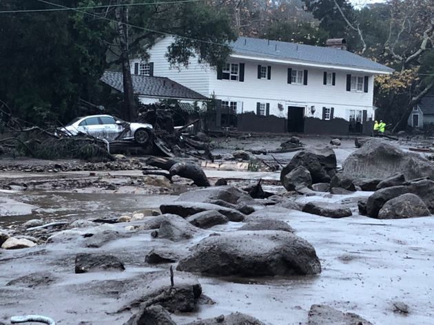 Rain triggered mud and boulders to crash into homes in Montecito,