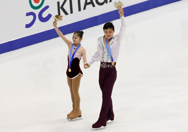 Kim and Ryom at the Asian Winter Games in February 2017.