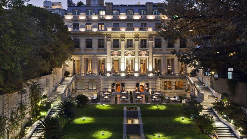 The gardens at Palacio Duhau - Park Hyatt, Buenos Aires.