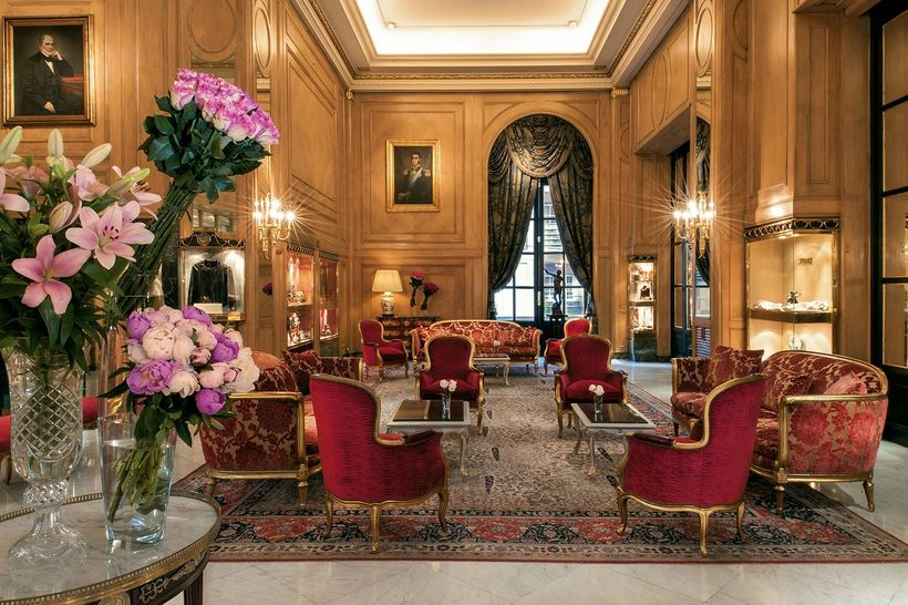 The romance of a bygone era greets guests in the lobby of the Alvear Palace.