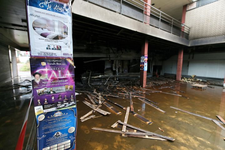 Prosecutors said the store in Créteil had caught fire overnight, days after it wasdefaced by anti-Semitic graffi