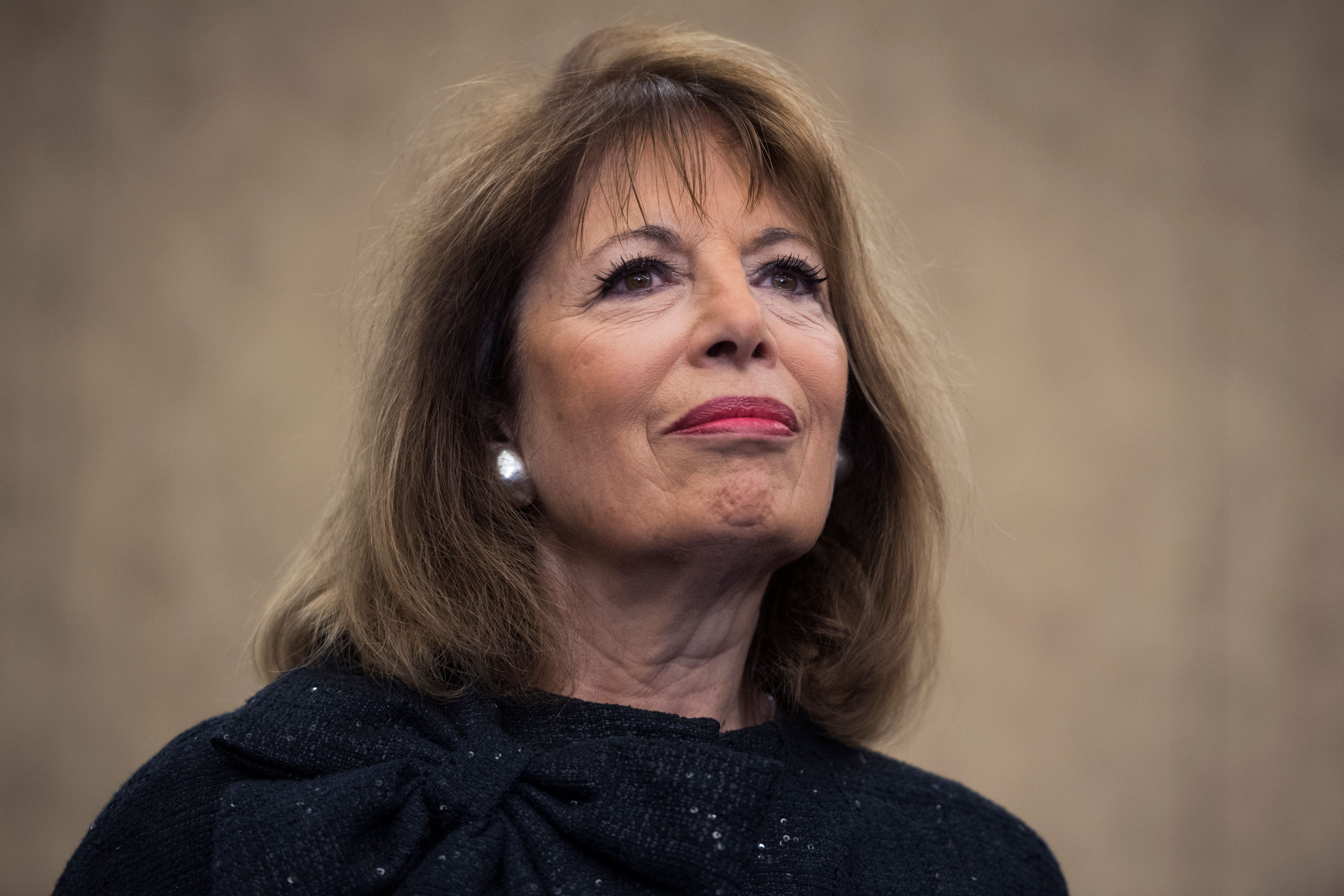 UNITED STATES - DECEMBER 20: Rep. Jackie Speier, D-Calif., attends a news conference in the Capitol on December 20, 2017, on CHIP (Children's Health Insurance Program), which has yet to be reauthorized. The Democratic Women's Working Group is opposed to proposed offsets that would take from other health care programs, while the GOP tax plan gives tax breaks to corporations. (Photo By Tom Williams/CQ Roll Call)