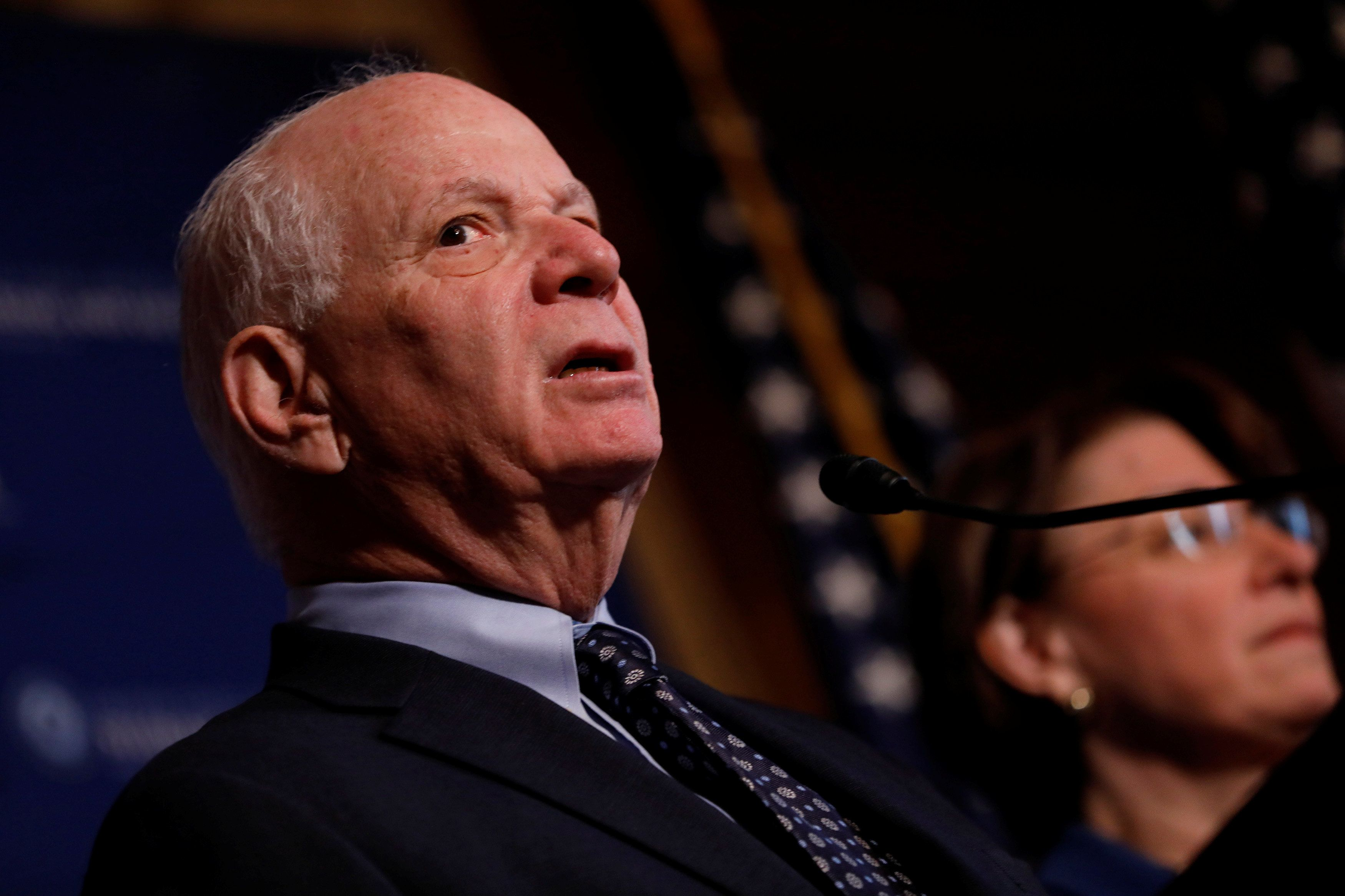 Senator Ben Cardin (D-MD) speaks at a press conference on the need for increased government transparency at the Capitol in Washington, D.C., U.S. March 15, 2017.  REUTERS/Aaron P. Bernstein