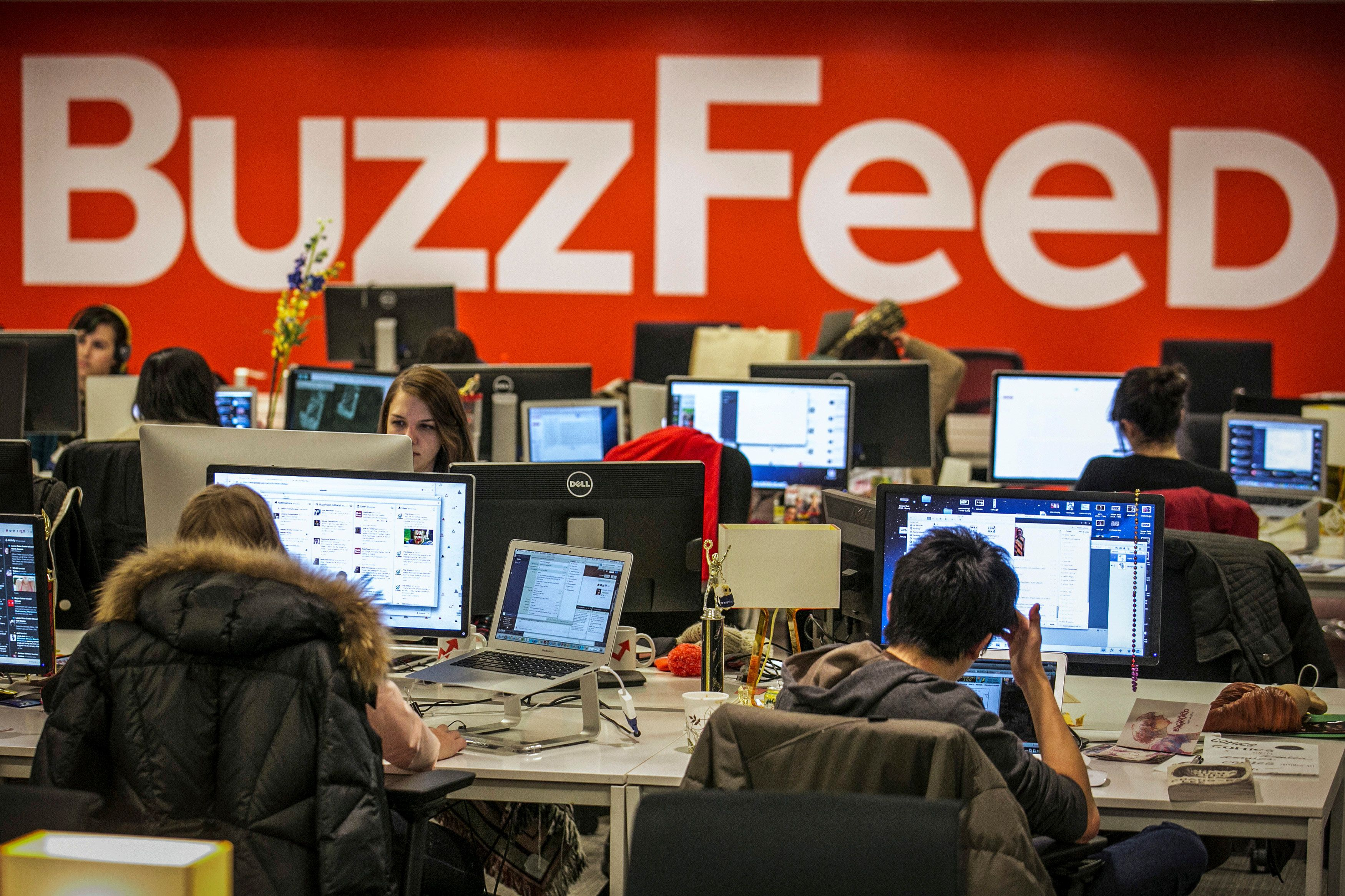 The BuzzFeed newsroom in New York City on Jan. 9, 2014.