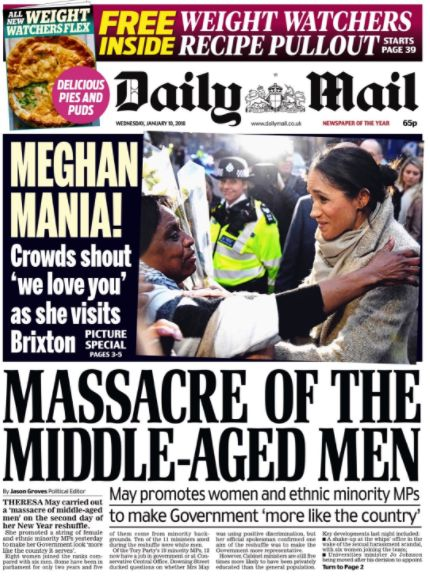 Daily Mail Labelled 'Hysterical' For Calling Reshuffle A 'Massacre Of Middle-Aged
