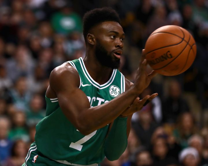 Jaylen Brown says racists have become emboldened by President Donald Trump.