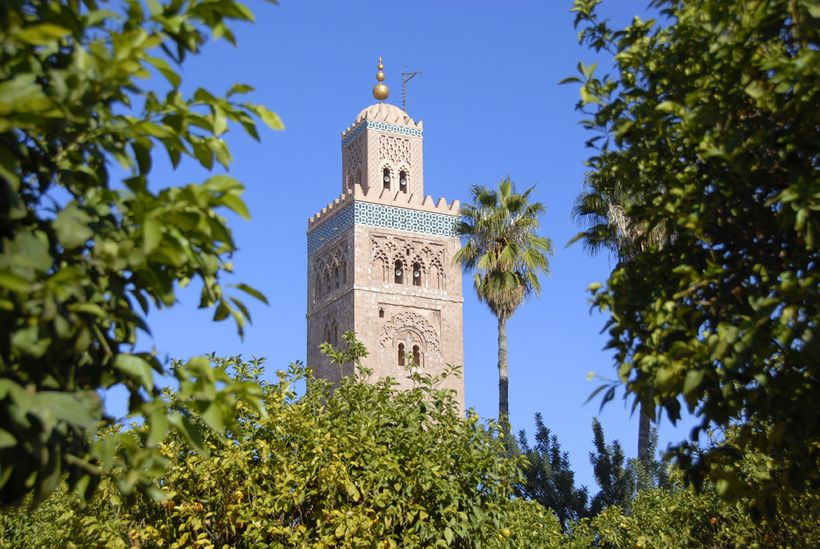 Expect sunny days and 22ºC in Marrakech