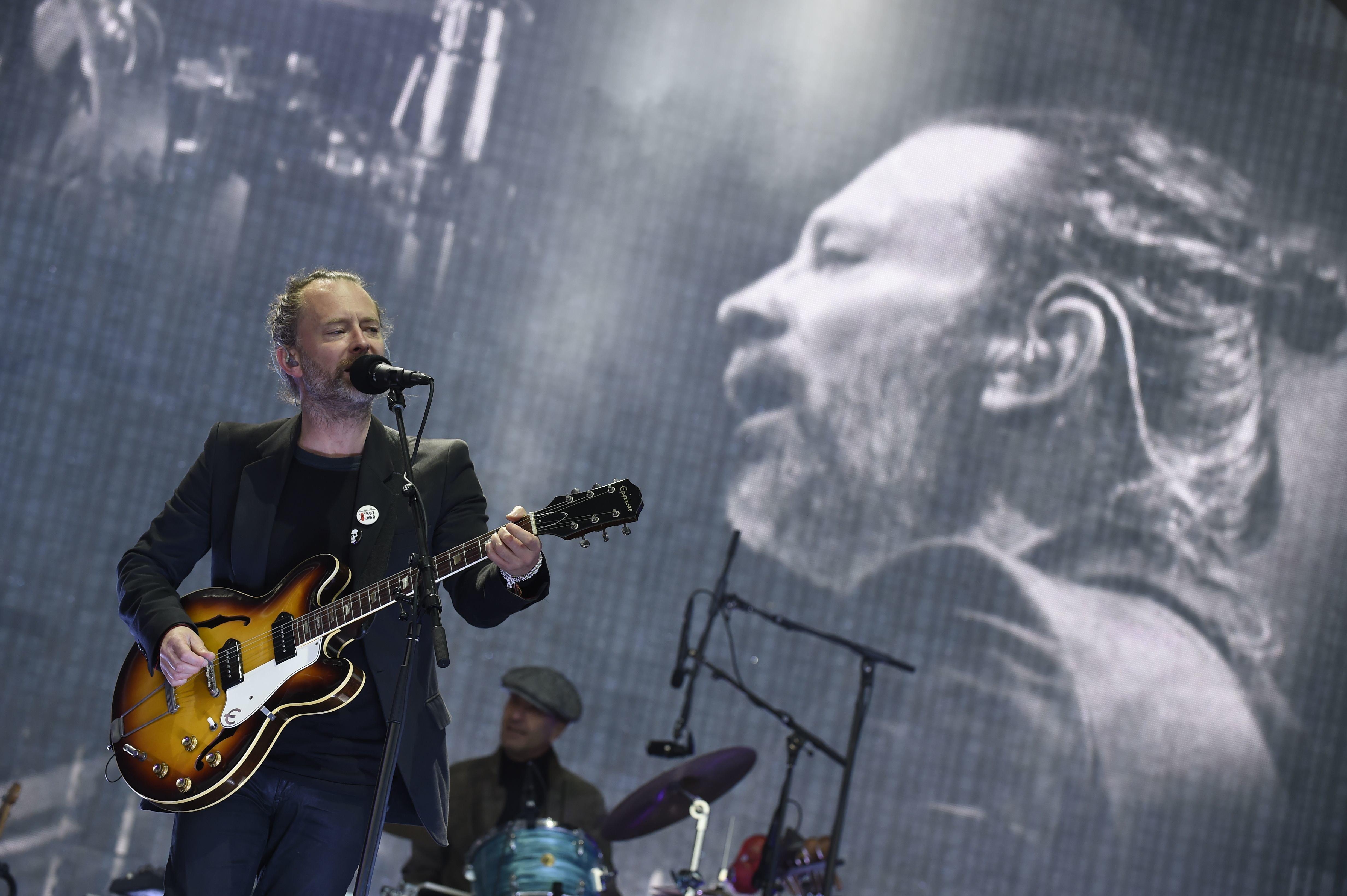 ANDY BUCHANAN via Getty Images                   Thom Yorke of Radiohead