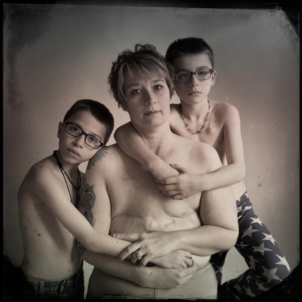 Das Foto der Amerikanerin Shannan Taft Ajluni und ihren Söhnen ging um die Welt - das ist die Geschichte dahinter