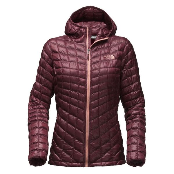 "With PrimaLoft synthetic-fiber clusters, this <a href=""https://www.amazon.com/North-Face-Womens-Thermoball-Hoodie/dp/B01"