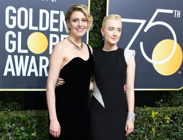 Many critics claimed Greta - pictured with 'Lady Bird' star Saoirse Ronan - had been unfairly