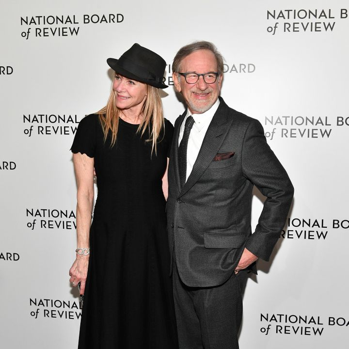 Steven Spielberg, with wife Kate Capshaw at the National Board of Review Awards dinner, said the time has come for women dire