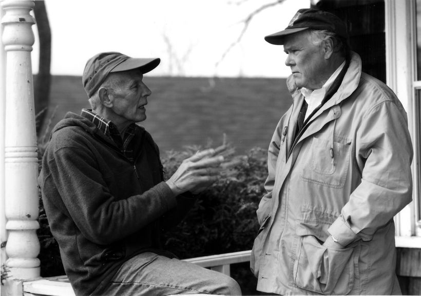 Arthur Glowka (left) and Bob Boyle (right) founding members of the Hudson River Fishermen's Association now known as Riverkee