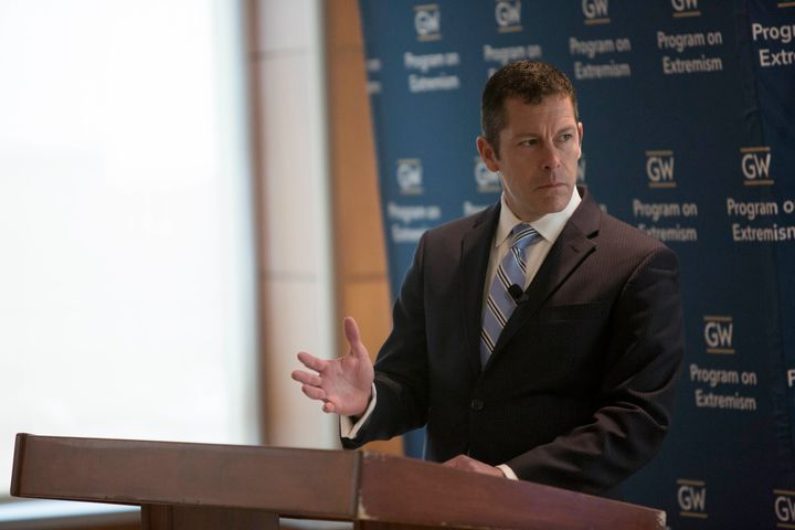 Thomas Brzozowski, theJustice Department's counsel for domestic terrorism matters, spoke at an event at George Wa