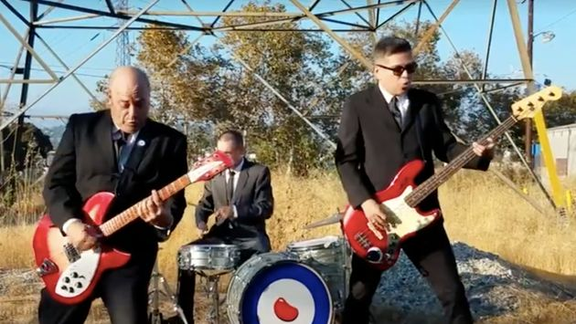 Superbean, a Los Angeles punk band, performs it's new song, 'F**k