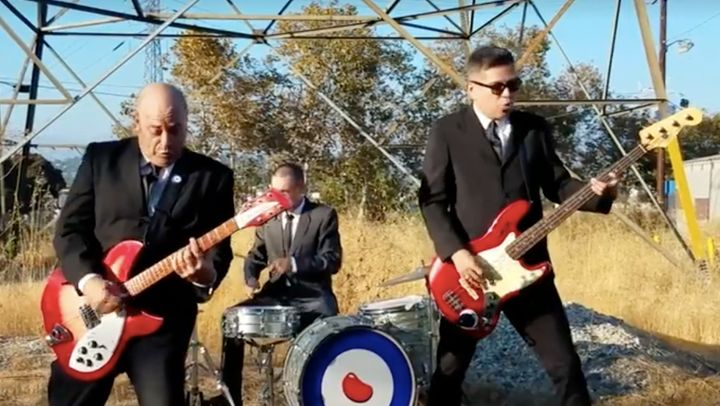 Superbean, a Los Angeles punk band, performs it's new song, 'F**k Youth.'