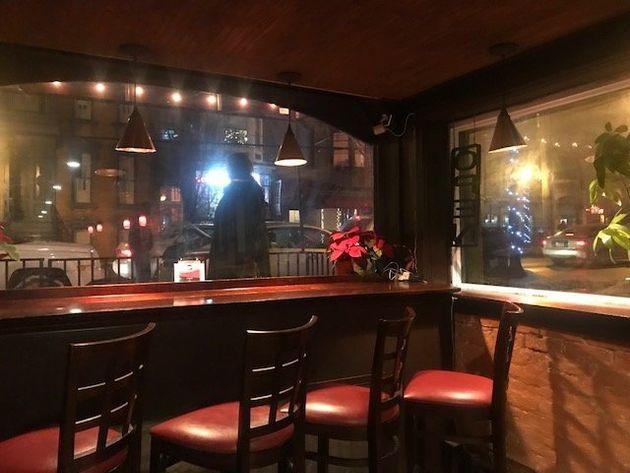 Inside the bar of