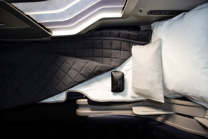 Comfortable new bedding is being introduced in British Airways business  class for long-haul flights. Mine did not look this
