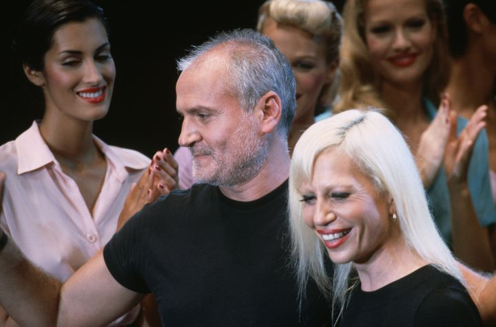 """""""American Crime Story"""" presents Donatella Versace, at right with her brother Gianni, as """"a feminist hero,"""" executive producer"""