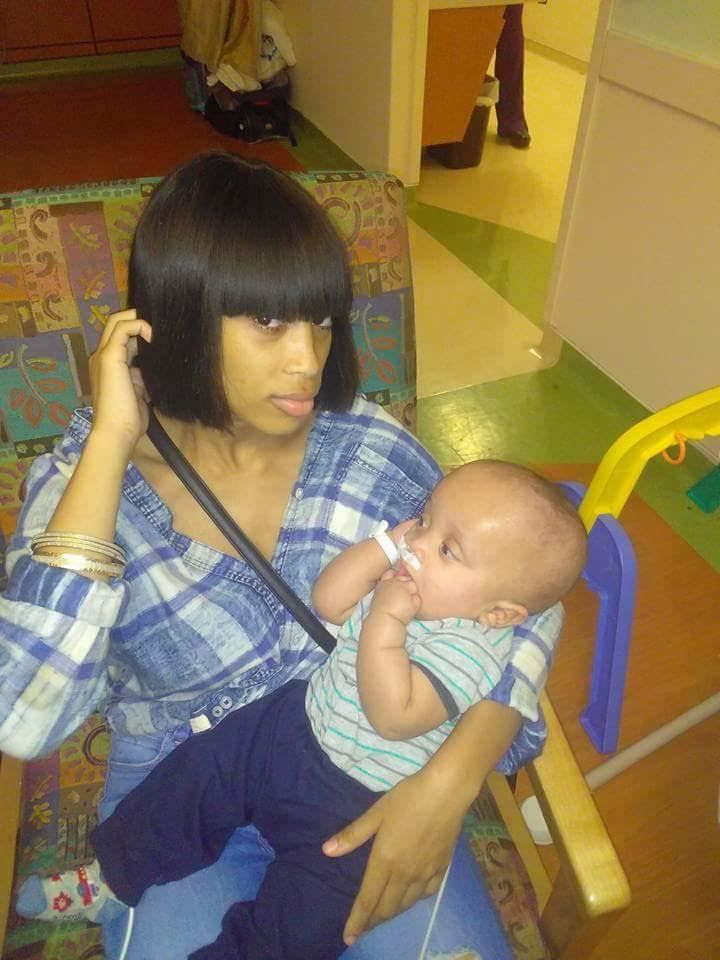 Genika and baby King.