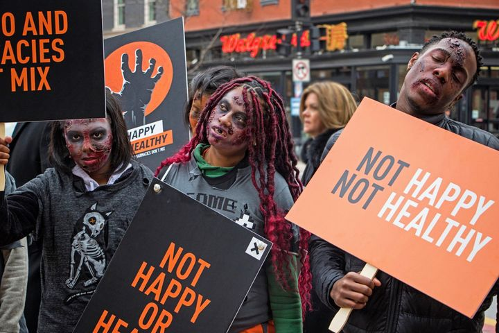 <p>Zombies invaded Washington, D.C. yesterday protesting Walgreens' sale of tobacco products, urging the pharmacy chain to go tobacco-free.</p>