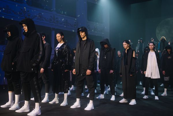 The line-up of models at Les Benjamins presentation for their Fall/Winter 2018-19 line