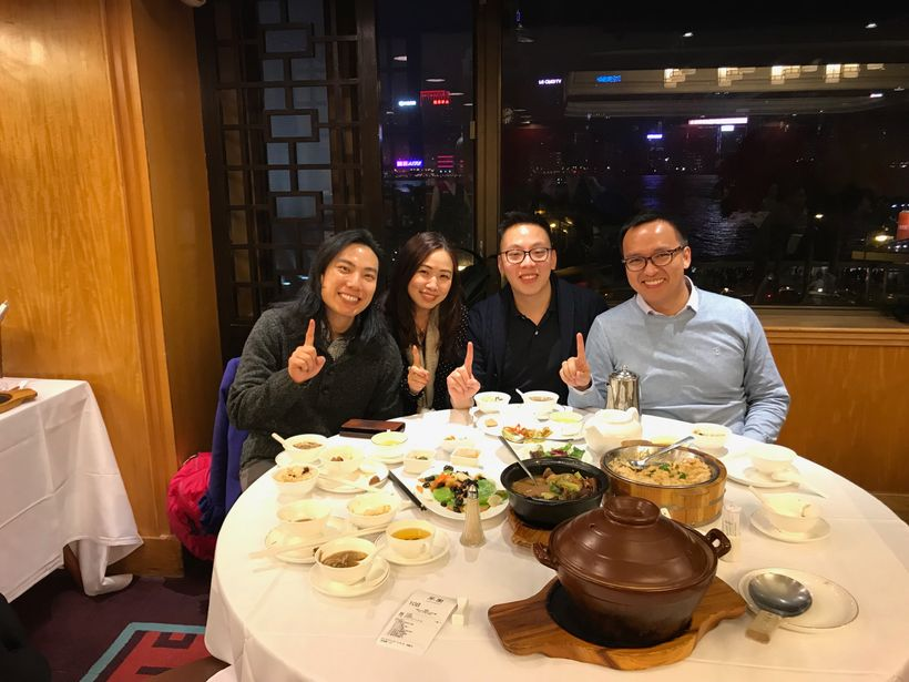 Small, private dinner with Achain. We spent 3 hours eating a delicious banquet meal, drinking tea, and of course talking abou