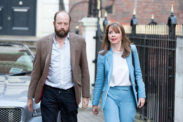 Nick Timothy with former fellow joint chief of staff Fiona