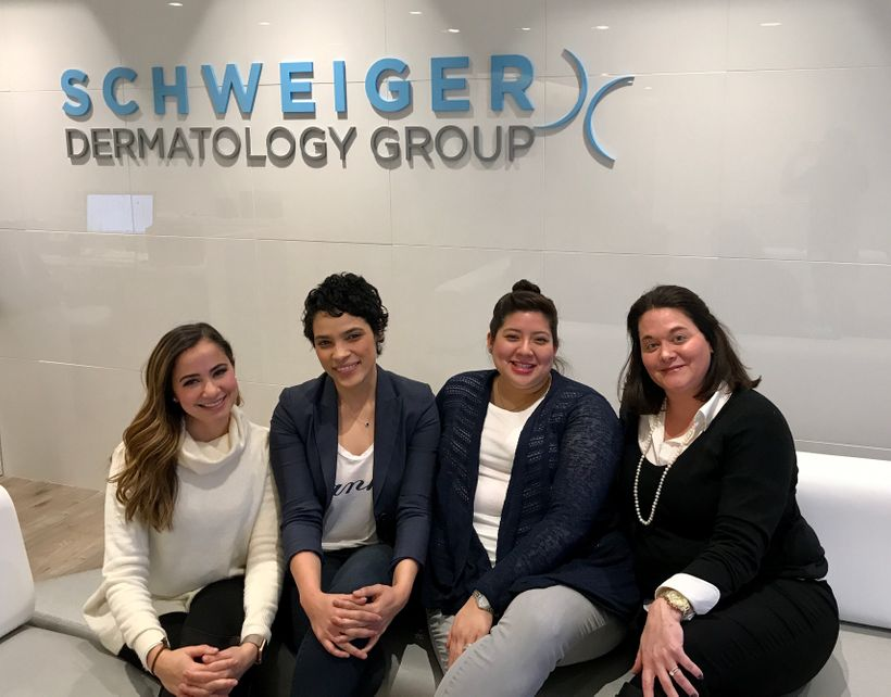 Leaders on Schweiger Dermatology Group's team have worked together to reduce turnover. (From left to right: Ana Welsh, vice p
