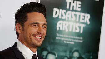 """Director and star James Franco arrives for the gala presentation of """"The Disaster Artist"""" at the AFI Film Festival in Los Angeles, California, U.S., November 12, 2017.      REUTERS/Mike Blake"""