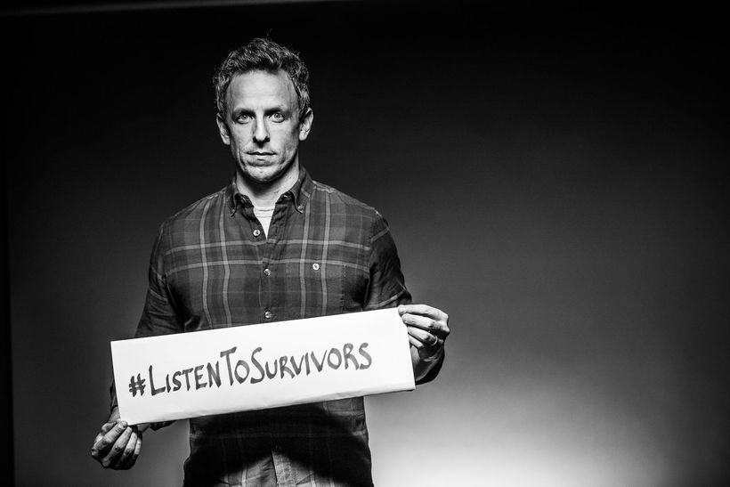 Comedian Seth Meyers, in an anti-trafficking public service announcement to be released today.