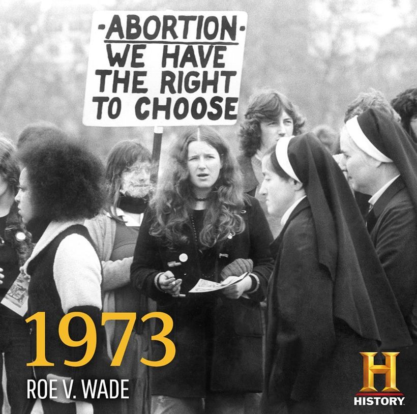 Roe v. Wade was announced on January 22, 1973