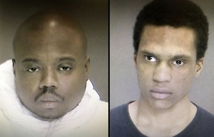 James White, left, and Justin Mann face multiple counts of murder, burglary and robbery.