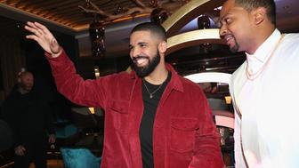 TORONTO, ON - JANUARY 09:  Drake (L) and Chubbs attend as Lebron James hosts Dwyane Wade's Birthday with The House Of Remy Martin at Drake's New Pick 6ix Restaurant on January 9, 2018 in Toronto, Canada.  (Photo by Johnny Nunez/Getty Images for Remy Martin)