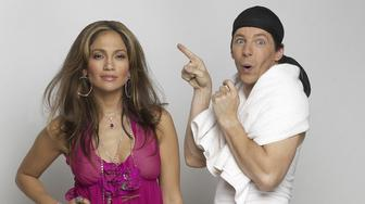 WILL & GRACE -- Season 6 -- Pictured: (l-r) Jennifer Lopez as herself, Sean Hayes as Jack McFarland -- Photo by: Chris Haston/NBCU Photo Bank