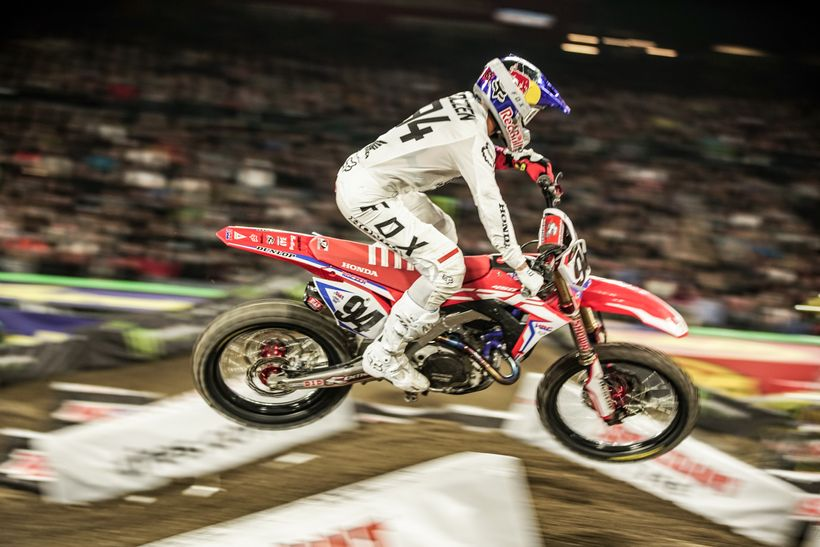 Ken Roczen put in a solid performance in his first race since suffering a severely broken arm nearly one year ago.