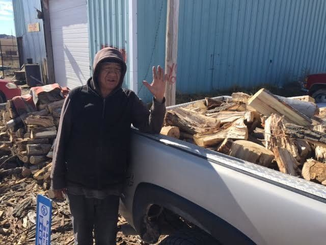 The nonprofit One Spirit hires five local residents to cut wood and deliver it to people in need on the reservation. The empl