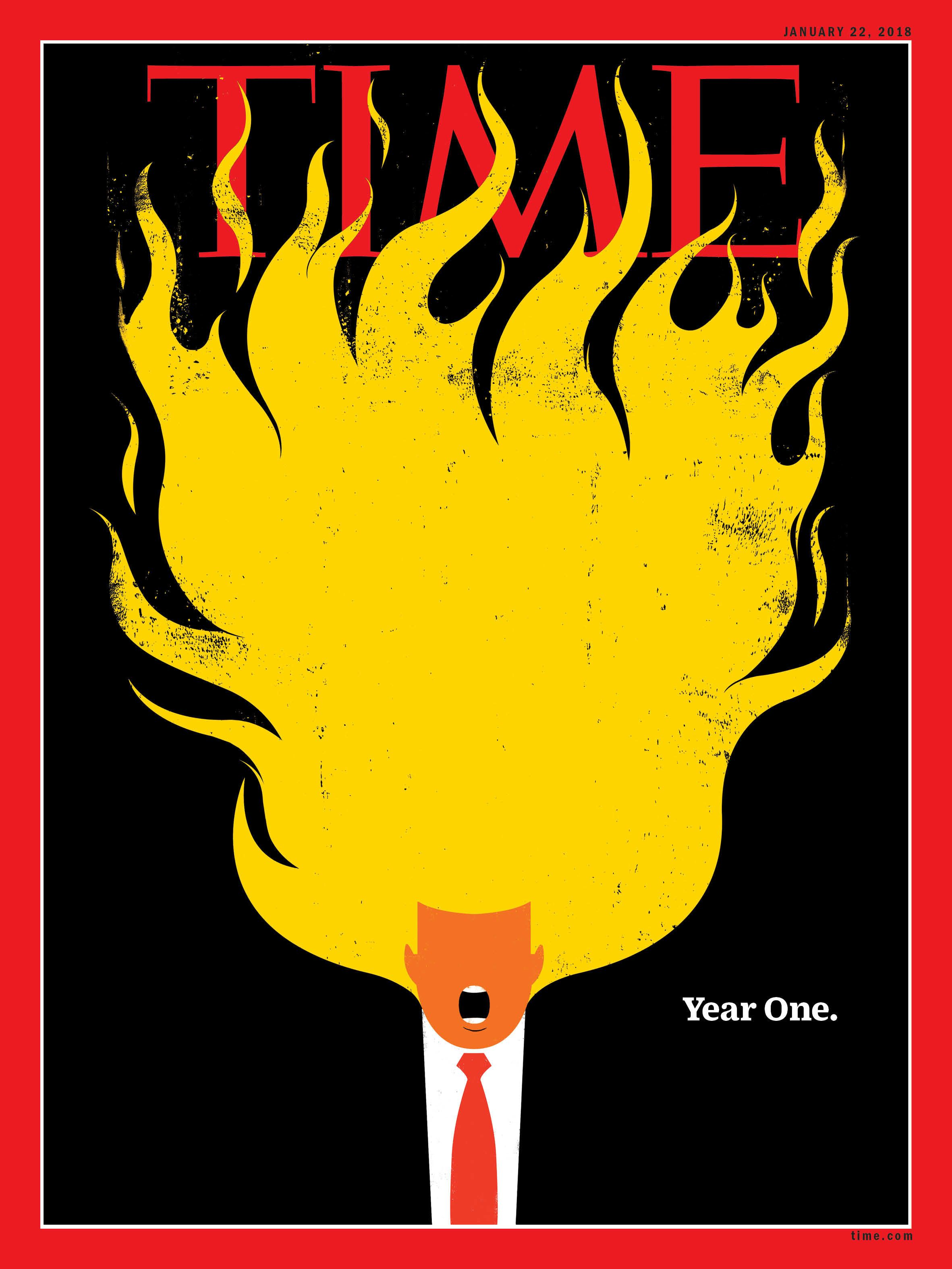 Time Magazine's Latest Cover Has Trump's Hair On Fire To Illustrate Hellish