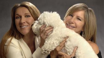 (EXCLUSIVE, Premium Rates Apply) Celine Dion and Barbra Streisand (Photo by KMazur/WireImage)