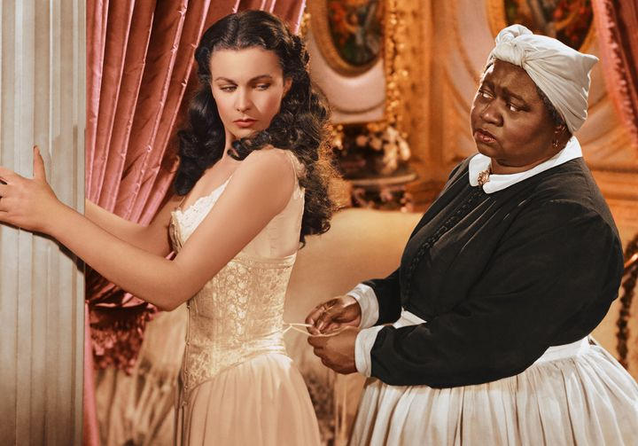 """McDaniel in the 1939 film """"Gone With The Wind,"""" alongside British actress Vivien Leigh."""