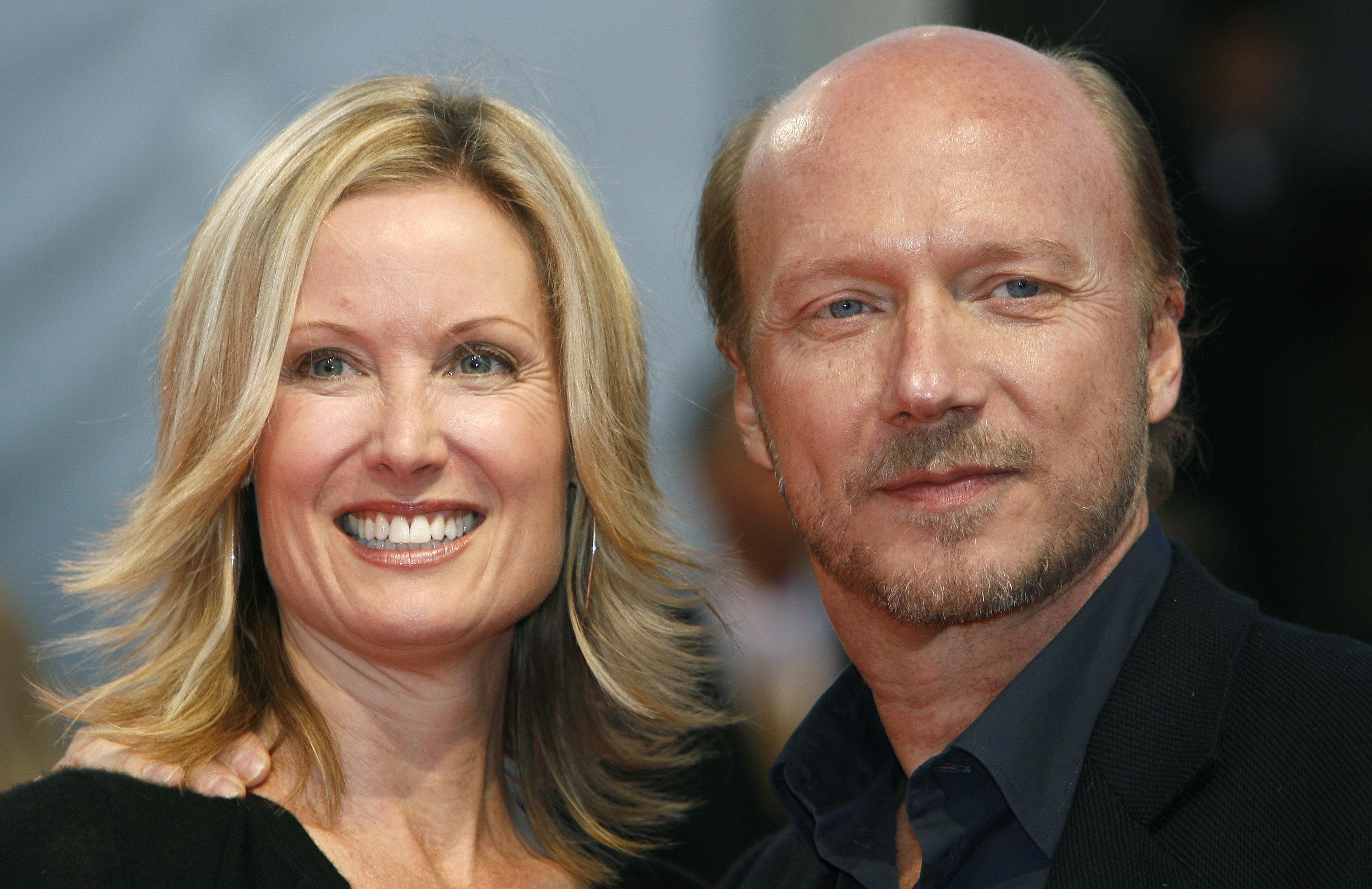 Deborah Rennard and Paul Haggis at the 33rd Deauville American Film Festival in September 2007.