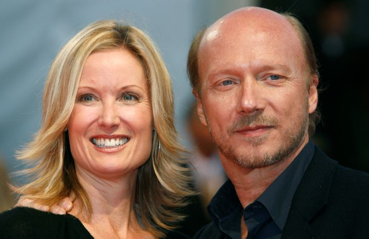 Deborah Rennard and Paul Haggis at the 33rd Deauville American Film Festival in September 2007.