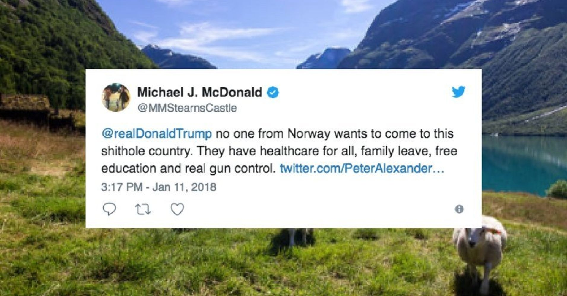 People On Twitter Tell Trump No One In Norway Wants To Come To His 'Shithole Country'